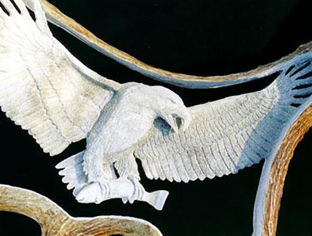 Antler Carving of Eagle